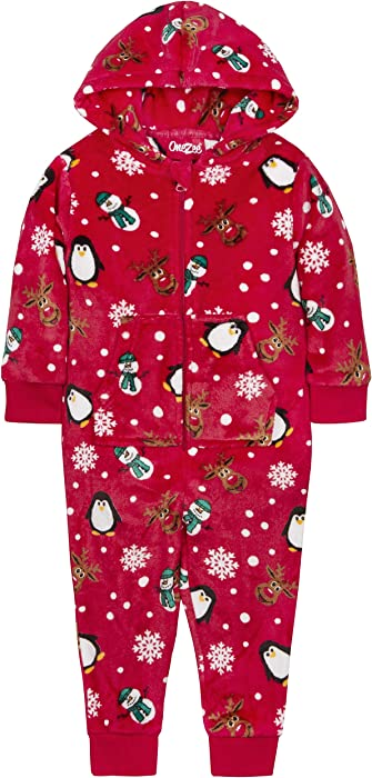 SALE Kids UNISEX Christmas Super Soft Fleece Dressing Gown Ages 2-13 Years NEW