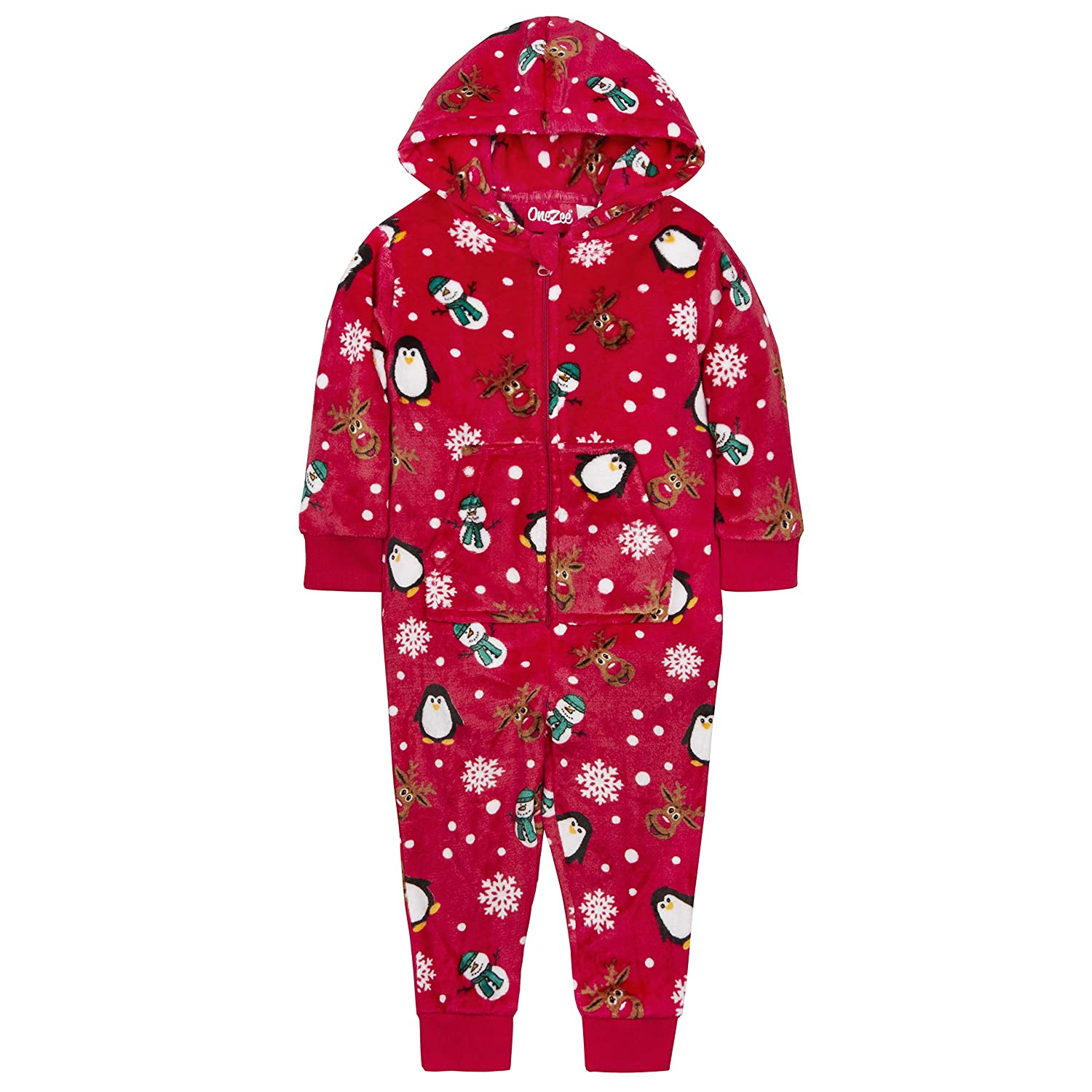 Childrens Unisex Christmas Design Onesie