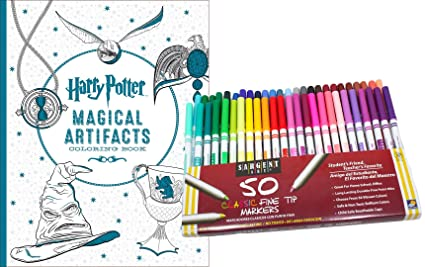 Amazon Com Harry Potter Magical Artifacts Coloring Book 50