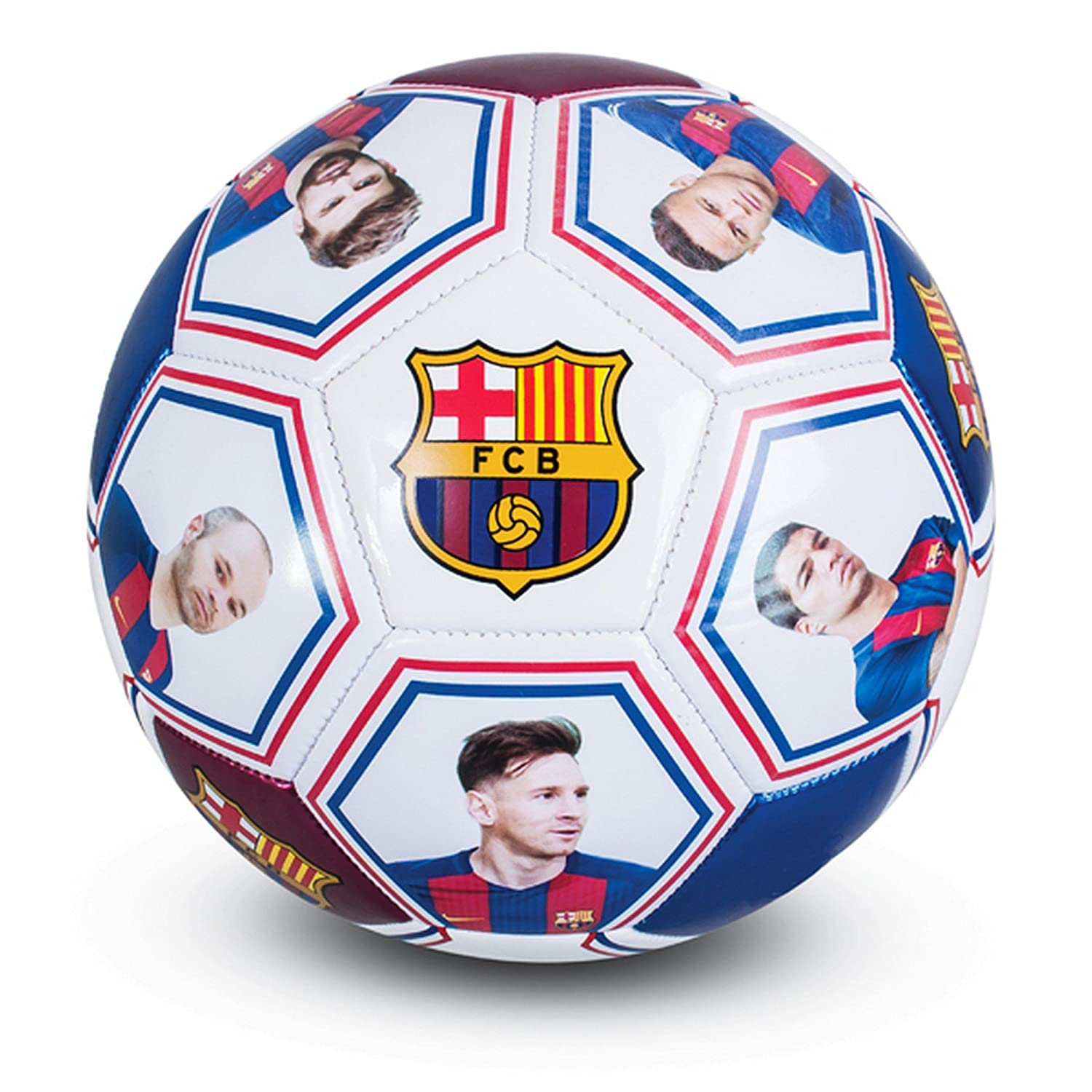 Club Licensed Barcelona Photo Signature Ball (Size 5) - One Size Official Football Merchandise s30fotba