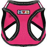 Pawtitas Pet Reflective Mesh Dog Harness, Step in or Vest Harness, Comfort Training Walking of Your Puppy/Dog XS Extra Small