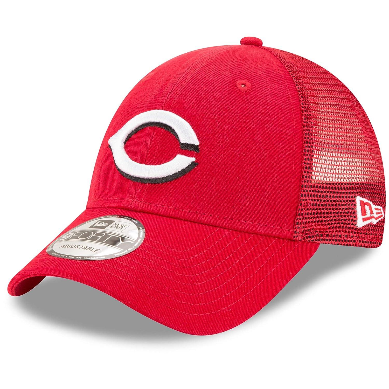 New Era シンシナティレッズ プライマリーロゴ トラッカー 9Forty 調節可能な帽子
