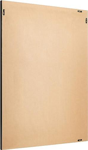 AmazonBasics Rectangular Wall Mirror 30 x 40 – Standard Trim, Black