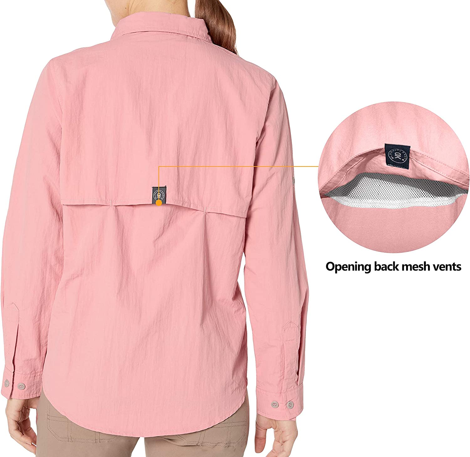 UV Protection Shirt Little Donkey Andy Womens UPF 50 Breathable and Fast Dry Long Sleeve Fishing Shirt