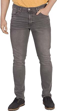 Wrangler Pantalones Vaqueros Ajustados Para Hombre Color Gris Amazon Es Ropa Y Accesorios