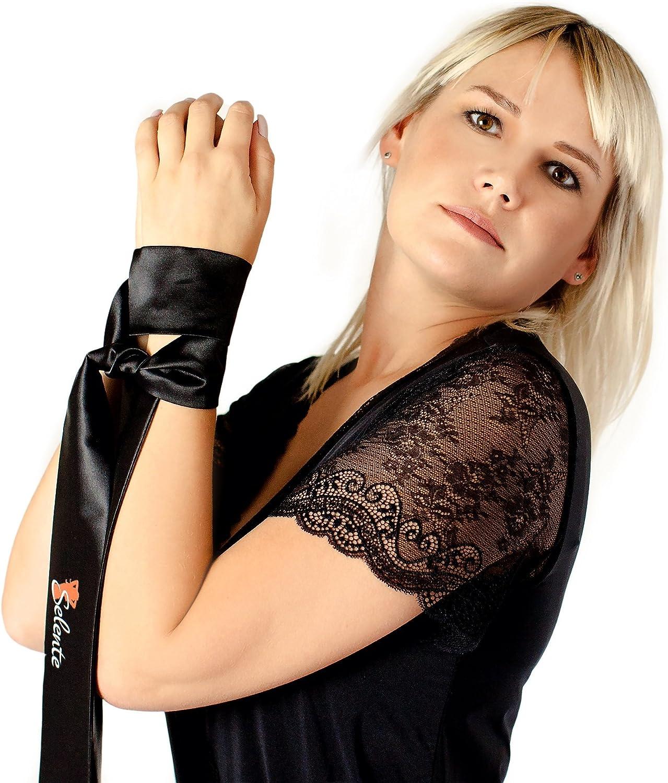 Selente Love /& Fun Malizioso Completo Intimo a 4 Pezzi accessoriato di Esclusiva Benda per Occhi in Raso Made in EU.