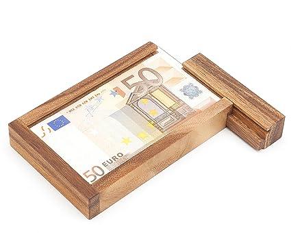 MAGISCHE GESCHENKBOX Caja Mágica para Regalar Dinero – Juego de Ingenio de Madera – Caja Regalo