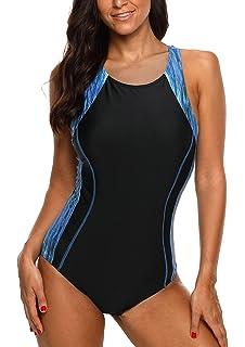 fc77d80e808b3 CharmLeaks Women s Pro Athletic One Piece Swimsuit Racerback One Piece  Swimwear