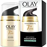 Olay 7-in-1 Total Effects Anti-Ageing Cream Fragrance Free Moisturiser, Fights The 7 Signs of Ageing for Radiant Skin, 50 ml