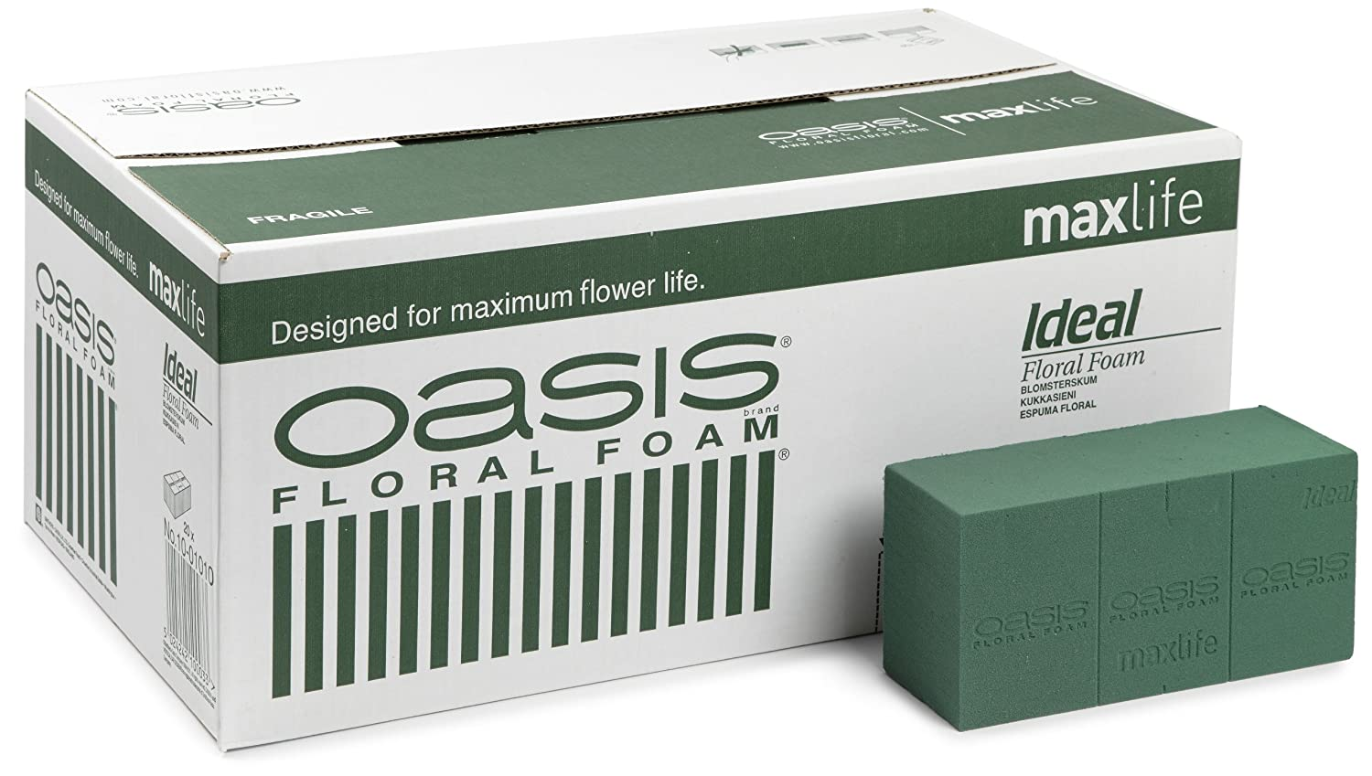 OASIS IDEAL WET FLORAL FLORISTRY FOAM MAXLIFE BRICK BLOCK-BOX OF 20 FLORIST FOAM