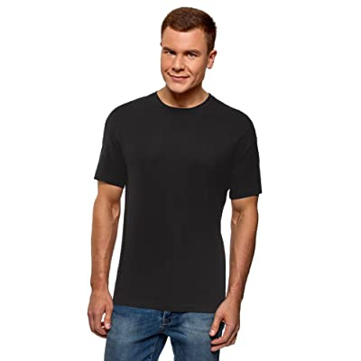 oodji Ultra Men's Straight-Fit Cotton T-Shirt | .com