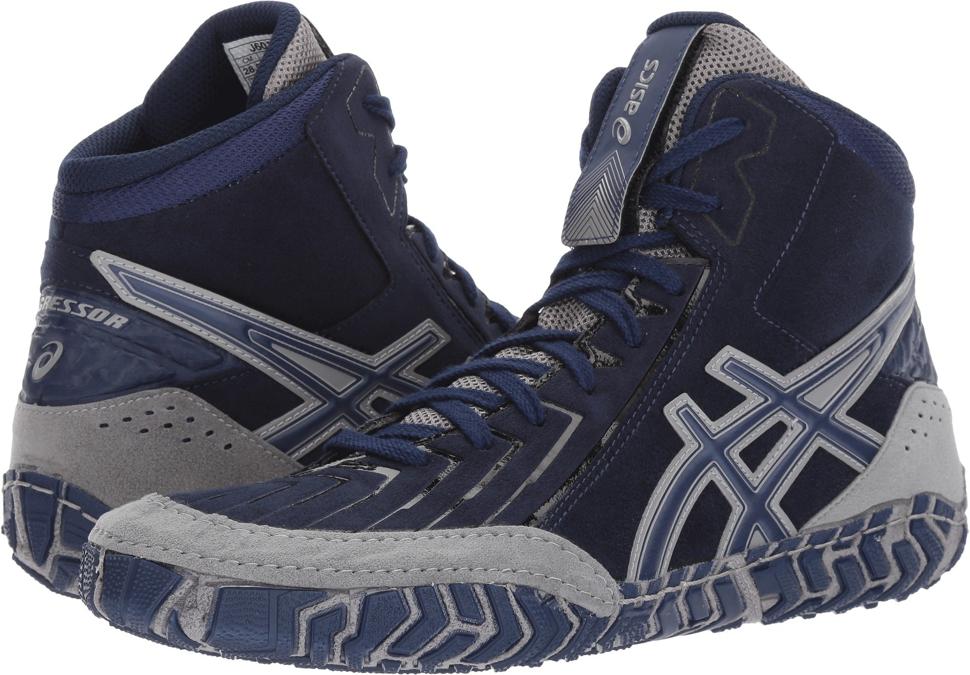 ASICS Men's Aggressor 3 Wrestling-Shoes, Indigo Blue/Indigo Blue/Aluminum, 9.5 Medium US