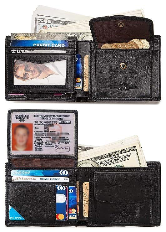 Amazon.com: Billetera para hombre con bloqueo RFID, delgada ...