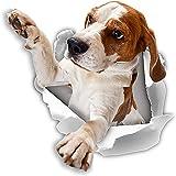 Winston & Bear 3D犬ステッカー - 2パック - ウォールについてビーグルステッカーを手を伸ばす、冷蔵庫、トイレ、その他のビーグルステッカー