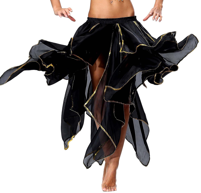 即納!最大半額! Seawhisper Panel-black レディース シフォンフェアリーファンシースカート ベリーダンススカート スパンコール サイドスリット B019XTEHDE Seawhisper スパンコール Medium|13 Panel-black 13 Panel-black Medium, NHKスクエア DVDCD館:eda5c41c --- kickit.co.ke