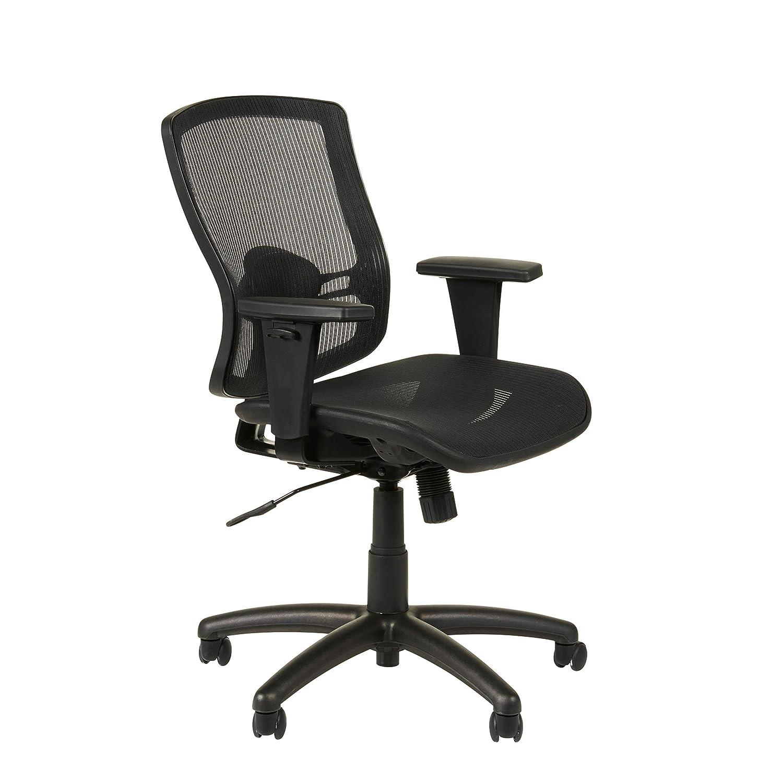 Amazon.com: Alera ET4218 Etros Series Mesh Mid Back Synchro Tilt Chair,  Mesh Back/Seat, Black: Kitchen U0026 Dining