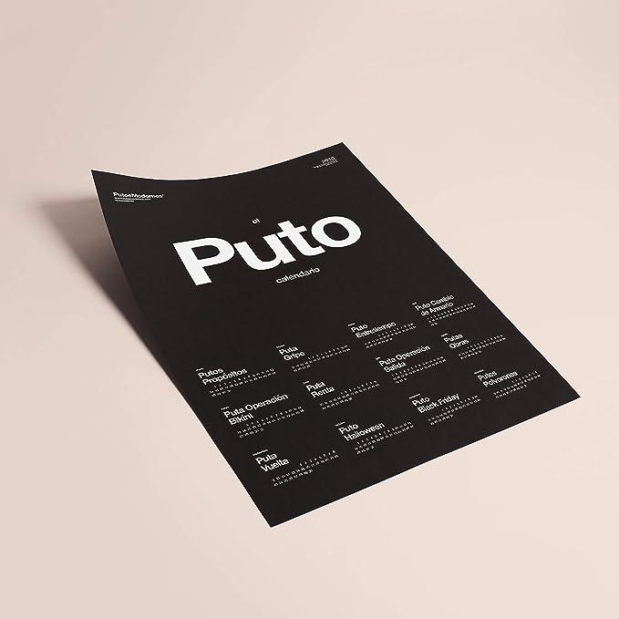 Putos Modernos - Fisura PM0868 Calendario 2019 Pared El Puto ...