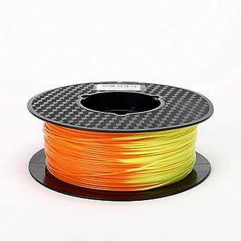 Filamento de impresora 3D PLA de color naranja a amarillo con ...