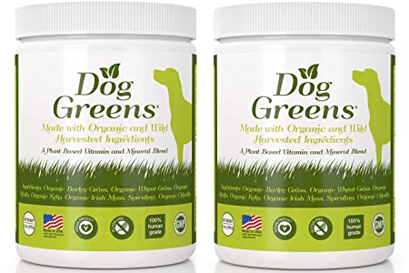 Dog Greens- Organic and Wild Harvested Vitamin and Mineral Supplement for Dogs – Add to Home Made Dog Food, RAW Food or Kibble