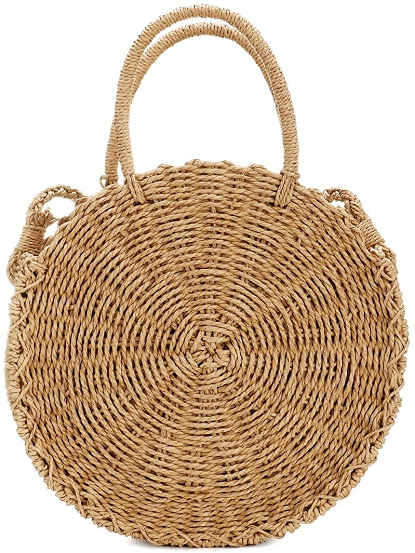 Straw Crossbody Bag Women...