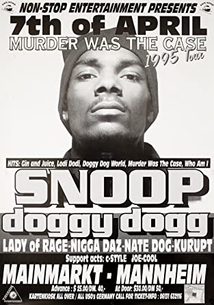 Snoop Dogg Murder Was The Case 1995 German A1 Poster At Amazons