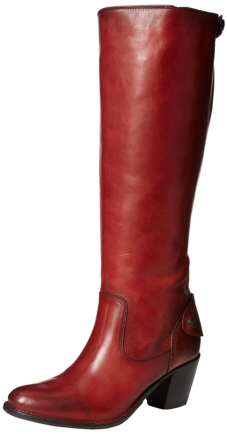 FRYE Women's Jackie Burnt Red Tall Leather Boots