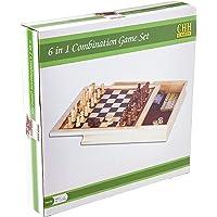 Ajedrez, Backgammon, dominó, tarjetas, & de juego de dados de póquer, color café