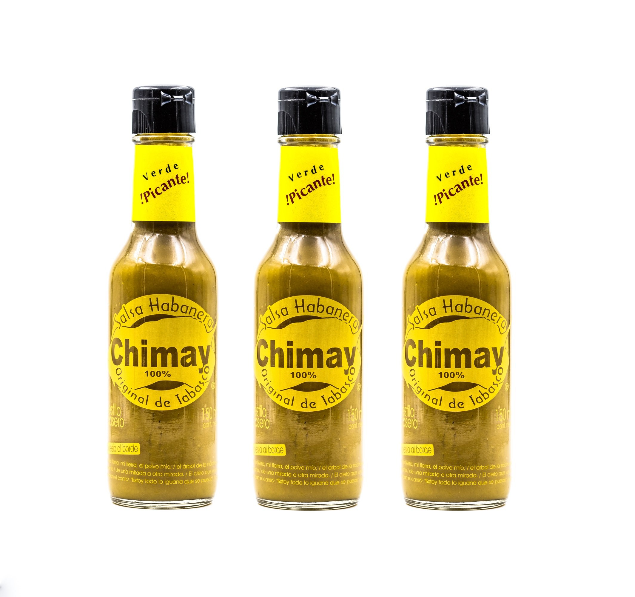 Chimay Habanero Sauce Hot - 5 Oz (Pack of 3)