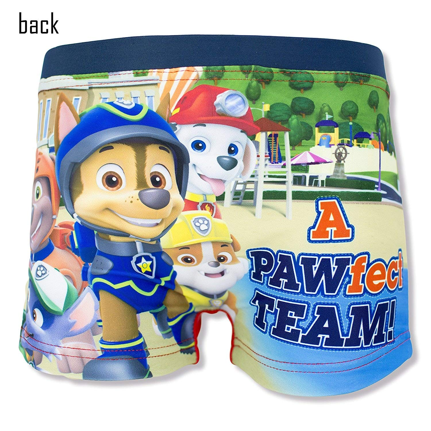 Nickelodeon Official Paw Patrol Boys Swimming Boxers, Briefs 2-6 Years - Red 6Y