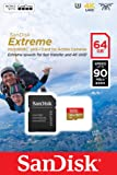 SanDisk Extreme 64 GB microSDXC for Action Sports Cameras Memory Card up to 90 MB/s, Class 10, U3, V30