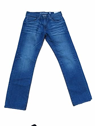 GUESS Los Angeles Jeans Lincoln-slim Straight Mens 32 X 32 Platonic Wash at  Amazon Men s Clothing store  5eba8ce61a