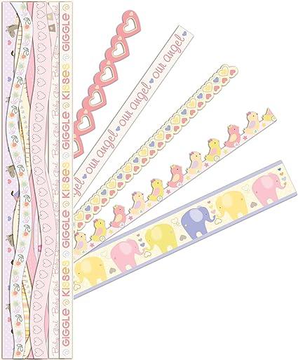 amazon com k company itsy bitsy baby girl adhesive borders