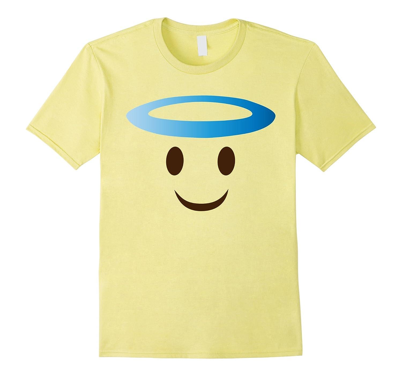 Angel Smile Emoji Face Costume T-Shirt for Halloween Group-T-Shirt