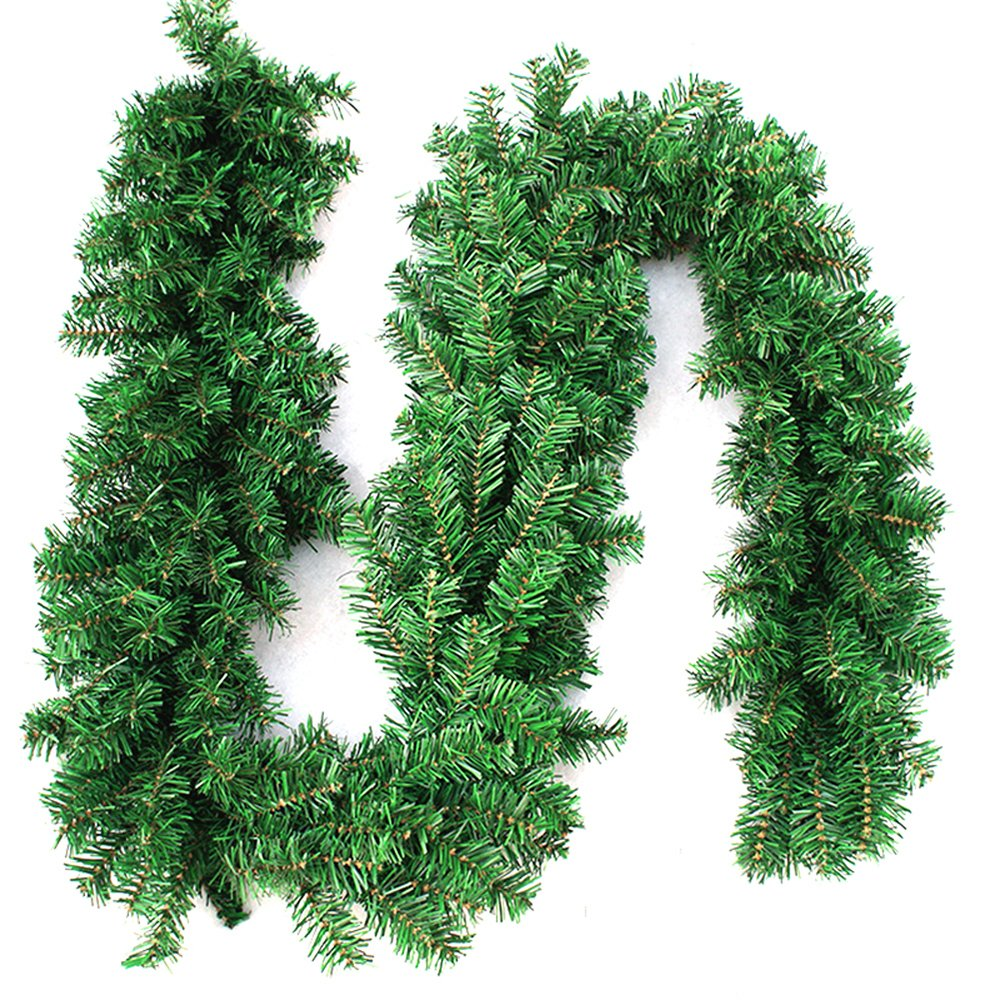 270cm x 25cm Plain Green Christmas Garland Decoration 9ft Undecorated Xmas Green Pine Garland (1pcs)