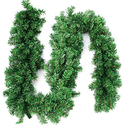 270cm x 25cm plain green christmas garland decoration 9ft undecorated xmas green pine garland 1pcs