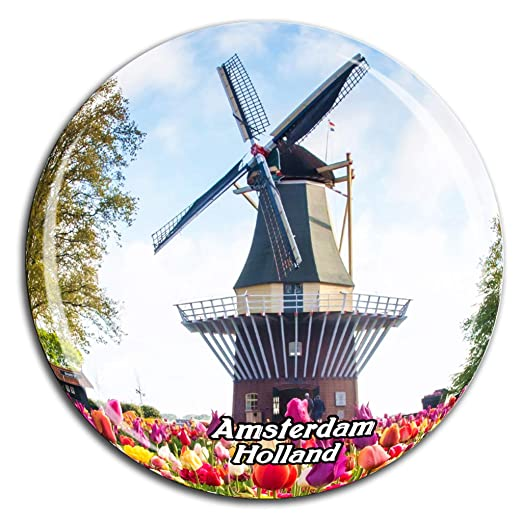 Keukenhof Park Amsterdam Holanda Holanda Imán de Nevera Cristal 3D ...