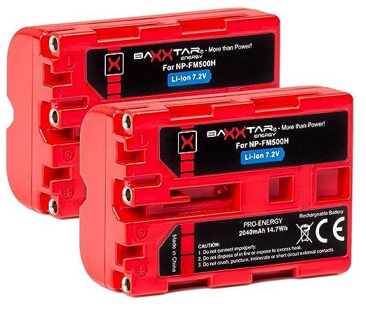 20 opinioni per 2x Baxxtar PRO Energy Batteria per SONY NP-FM500H (autentica 2040mAh