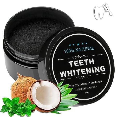 Blanchiment dentaire Wotek, Poudre de blanchiment au charbon actif naturel, poudre de charbon blanchissante, Blanchiment des dents 60g