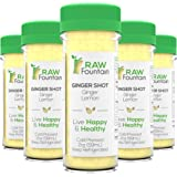 20 Ginger Shots with Lemon 2fl Oz, Vitamin C, Raw and Cold Pressed, Unpasteurized, Boosts Immunity, Non GMO, All Natural, No
