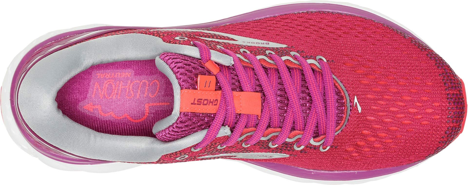 Brooks Women's Ghost 11 Aster/Diva Pink/Silver 5.5 B US by Brooks (Image #1)