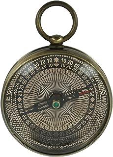 Shalinindia Poche Laiton Boussole avec ornementales visage–Antique inspiré–5,6cm–Mécanisme de travail
