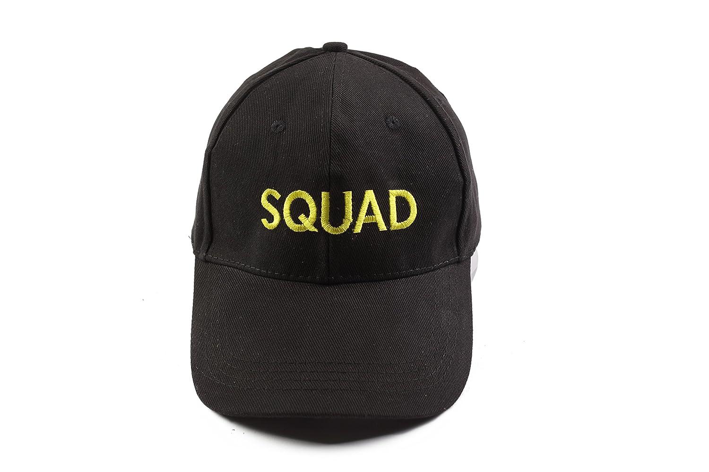 Gorra de béisbol de algodón negra con bordado de algodón amarillo ...