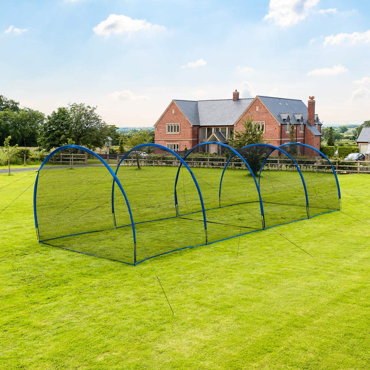 Fortress Pop-Up Baseball Batting Cage - Backyard Batting & Pitching Practice [20ft Or 40ft] (40ft Batting Cage) by Fortress
