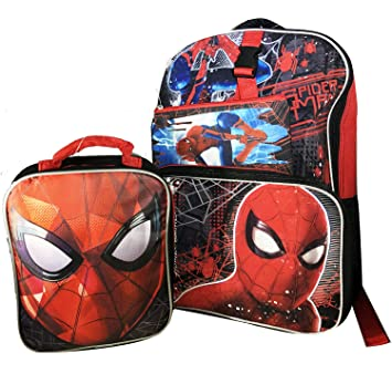 Clothes, Shoes & Accessories Detachable Pencil Case Travel Lunch Bag Rucksack Marvel Spiderman Backpack Boys' Accessories