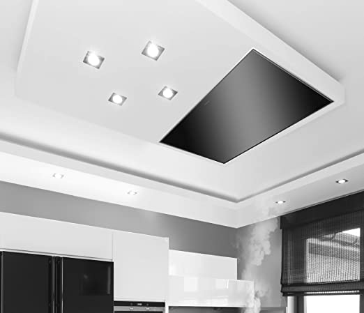 Silverline Quadra De techo Negro - Campana (Canalizado, De techo, Negro, 15 cm, Acero inoxidable, 2 pieza(s)): Amazon.es: Hogar
