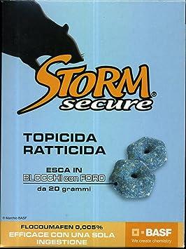 ZAPI STORM SECURE ser RATTICIDA en bloques con FORO ENVASE de 500 gramos (25 bloques