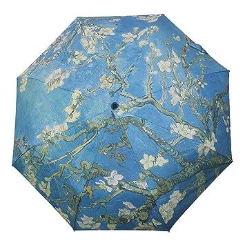 Van Gogh moreinks MyLifeUNIT almendra flores óleo plegable paraguas compacto