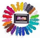 Mica Powder For Epoxy Resin Color Pigment Dye Set - 25 Colours [ 250g/8.82oz ], Muerk Cosmetic Grade Mica Powder for Lip…