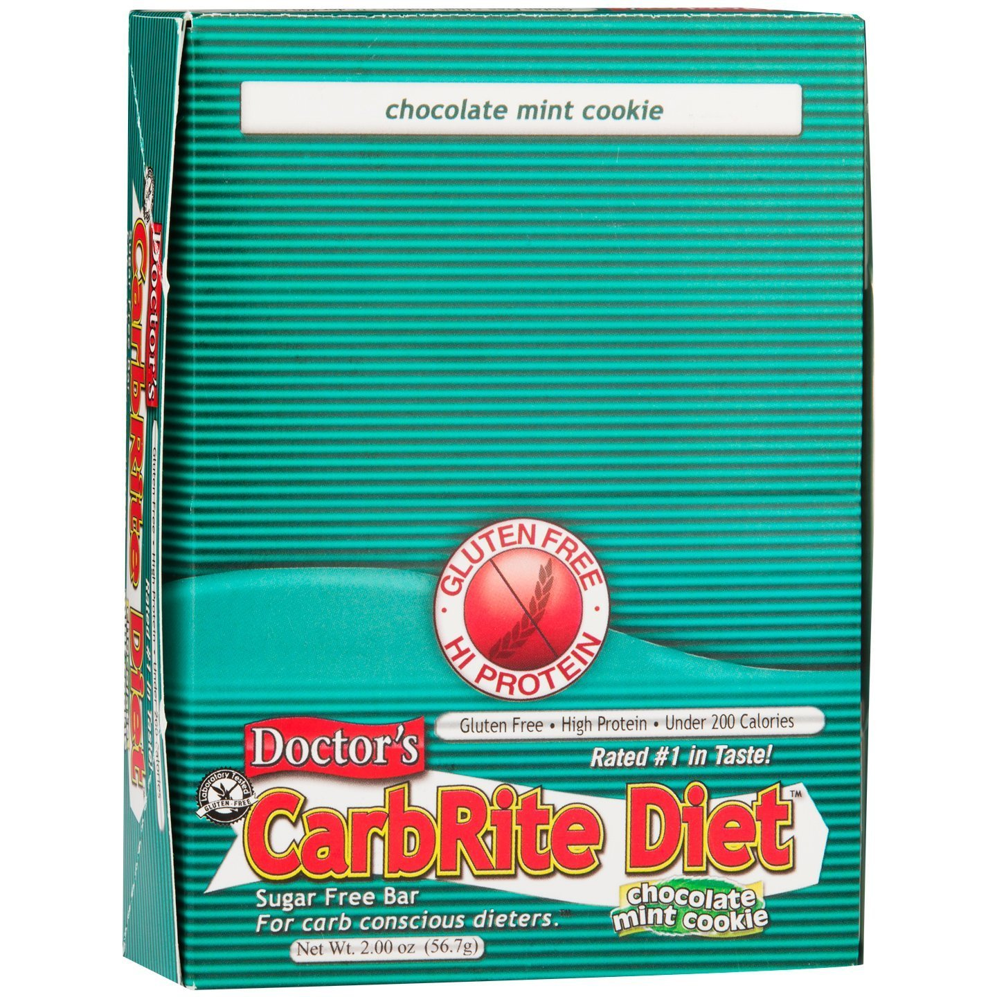 Doctor's CarbRite Diet Chocolate Mint Cookie Bars, 2 oz, 12 count by Universal Nutrition
