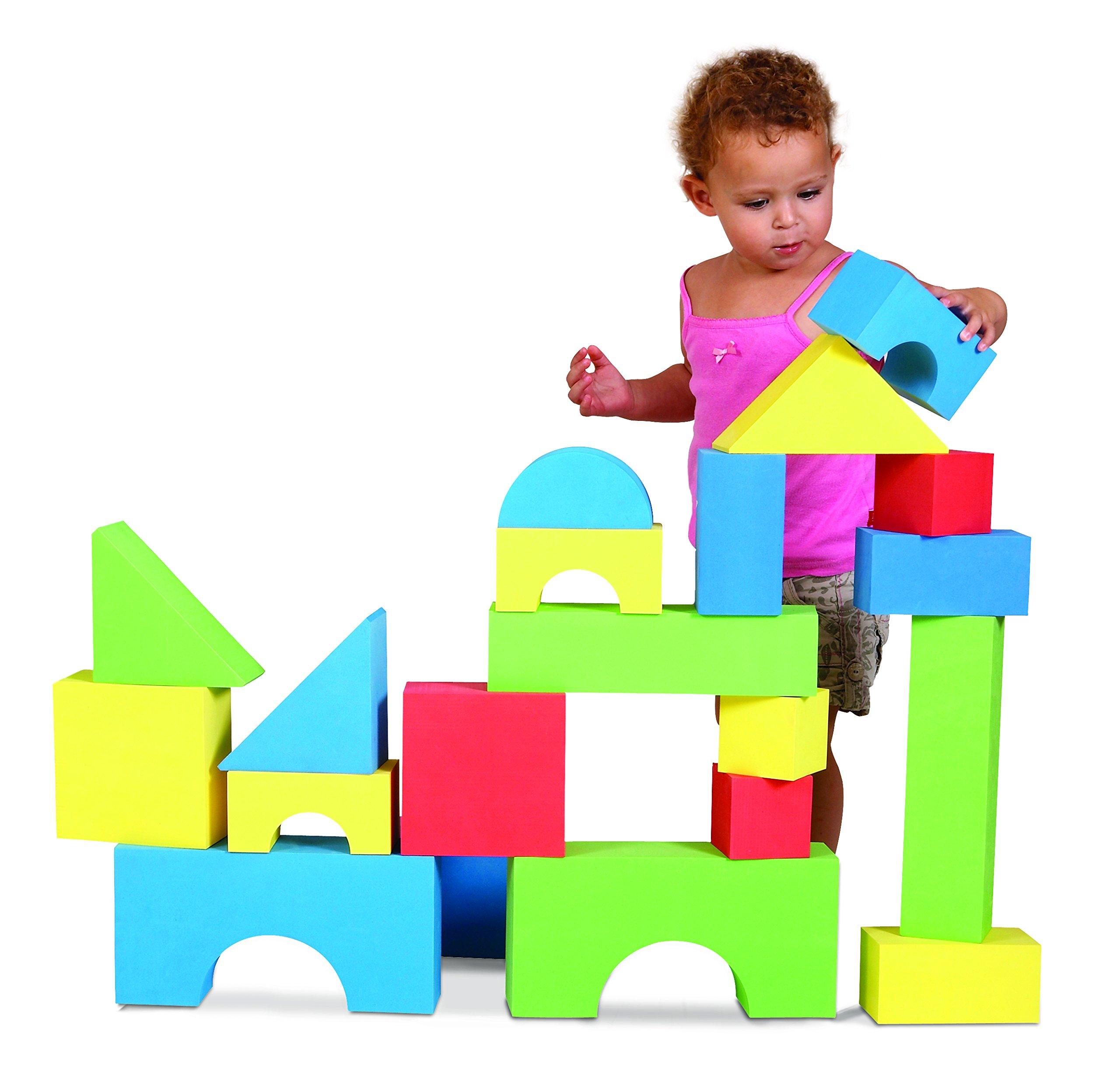Edushape Big Edu-Color Blocks, 32 Piece